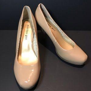 Madden Girl Beige Heels - Size 8